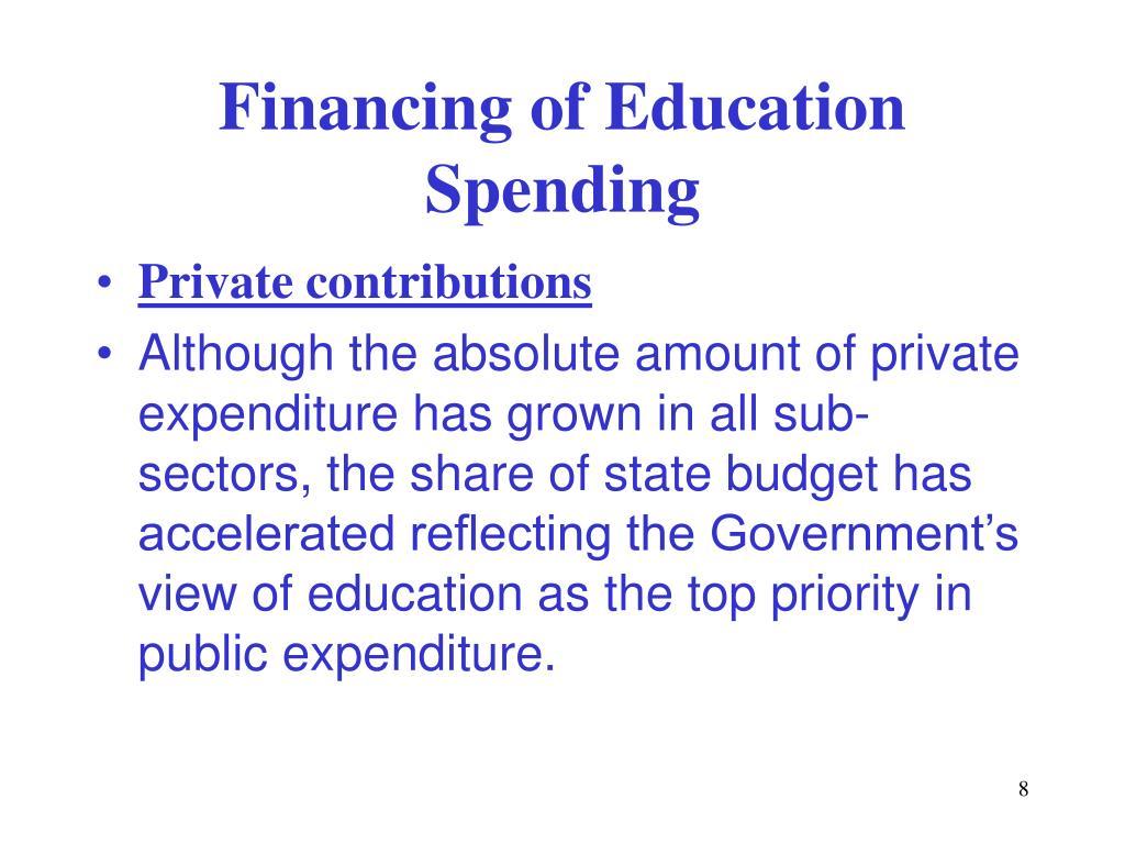 Financing of Education Spending