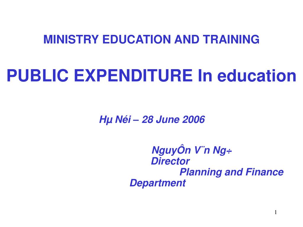 MINISTRY EDUCATION AND TRAINING