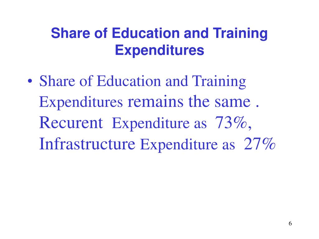 Share of Education and Training Expenditures
