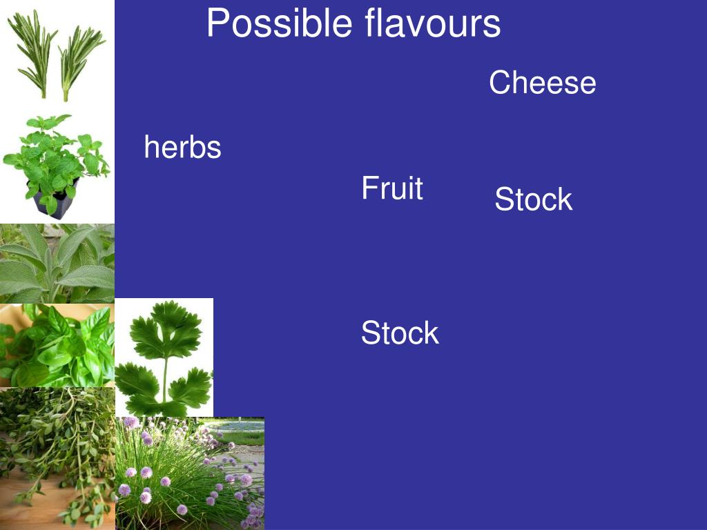 Possible flavours