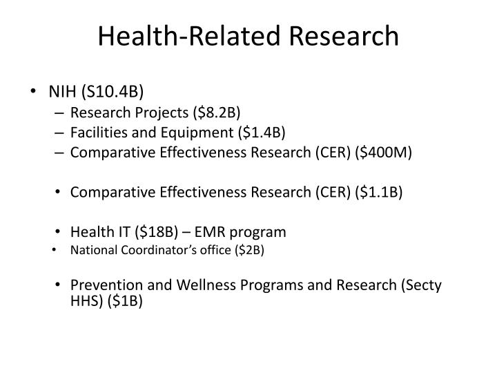 Health related research
