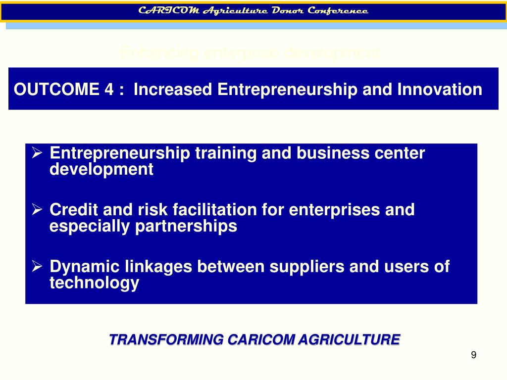 CARICOM Agriculture Donor Conference
