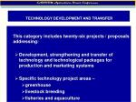 technology development and transfer