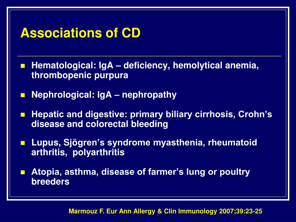 Associations of CD