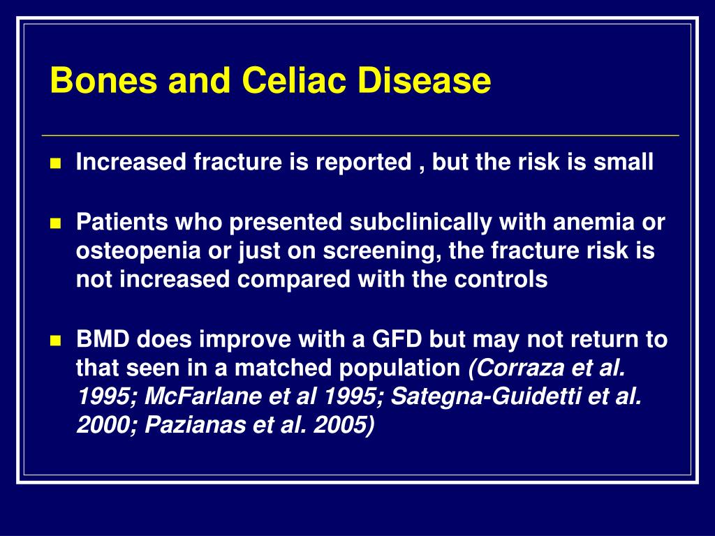 Bones and Celiac Disease