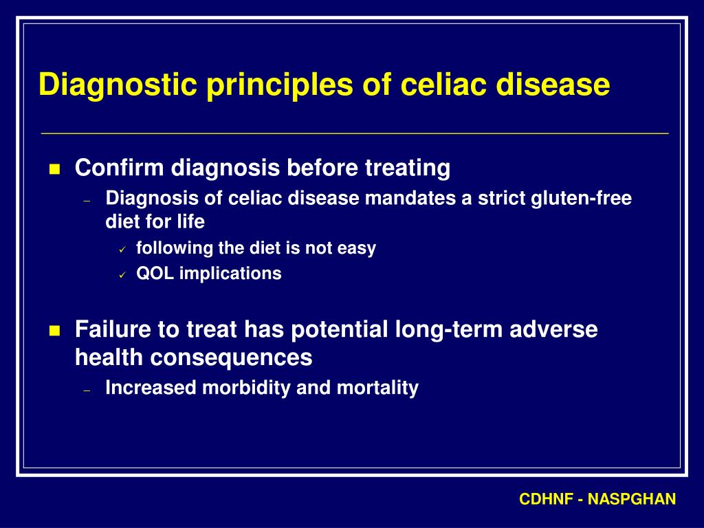Diagnostic principles of celiac disease