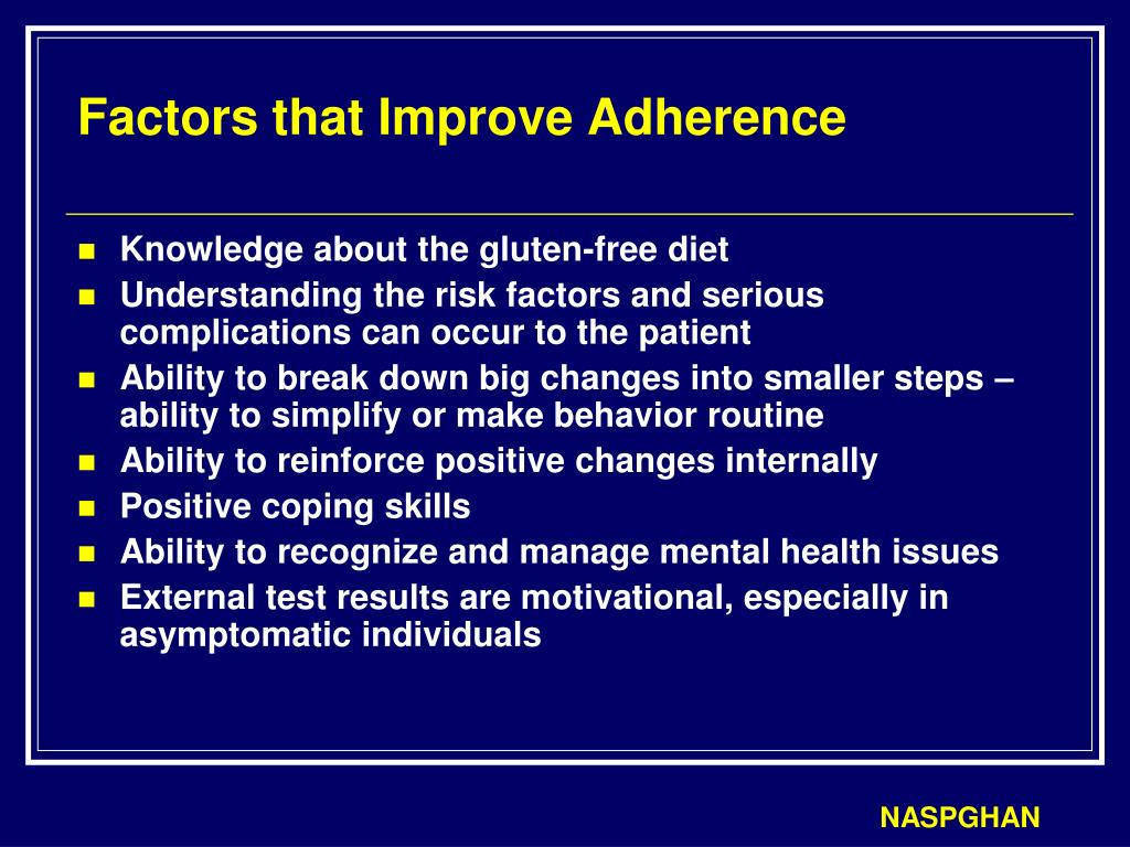 Factors that Improve Adherence