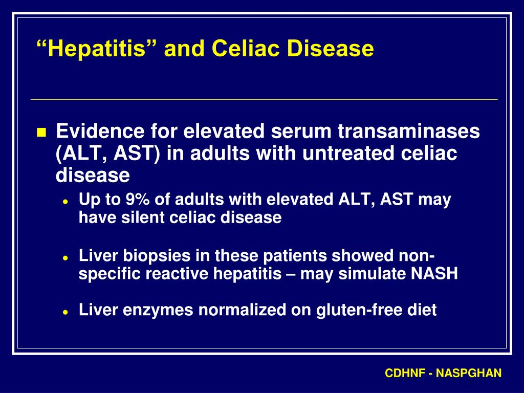 """Hepatitis"" and Celiac Disease"