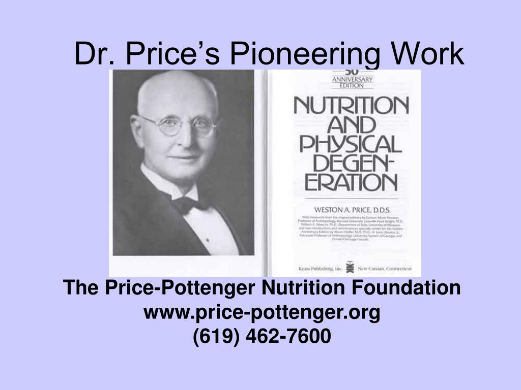 Dr. Price's Pioneering Work