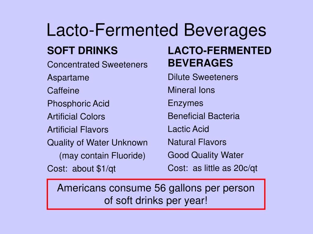 Lacto-Fermented Beverages