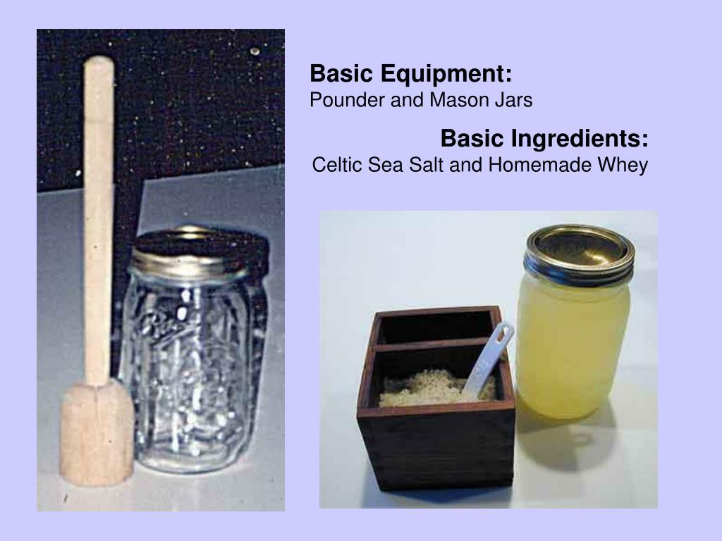 Pounder/Jar, Salt/Whey