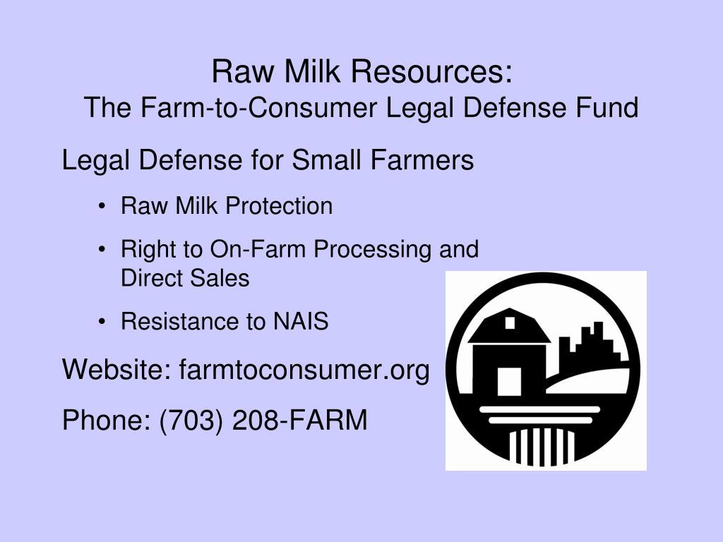 Raw Milk Resources: