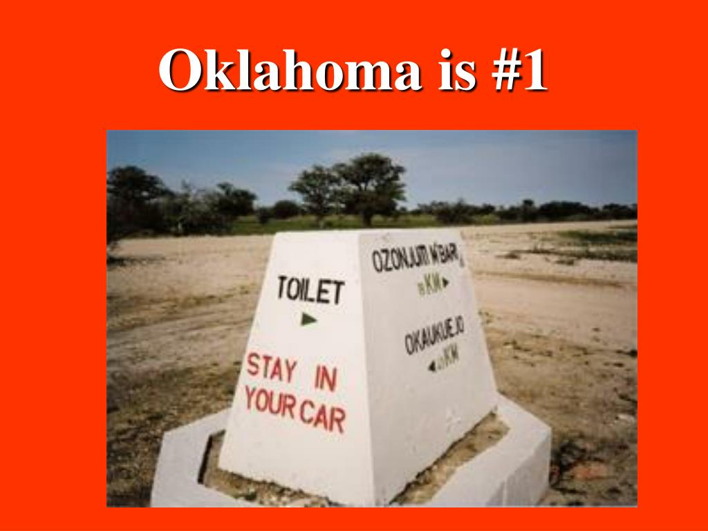 Oklahoma is #1
