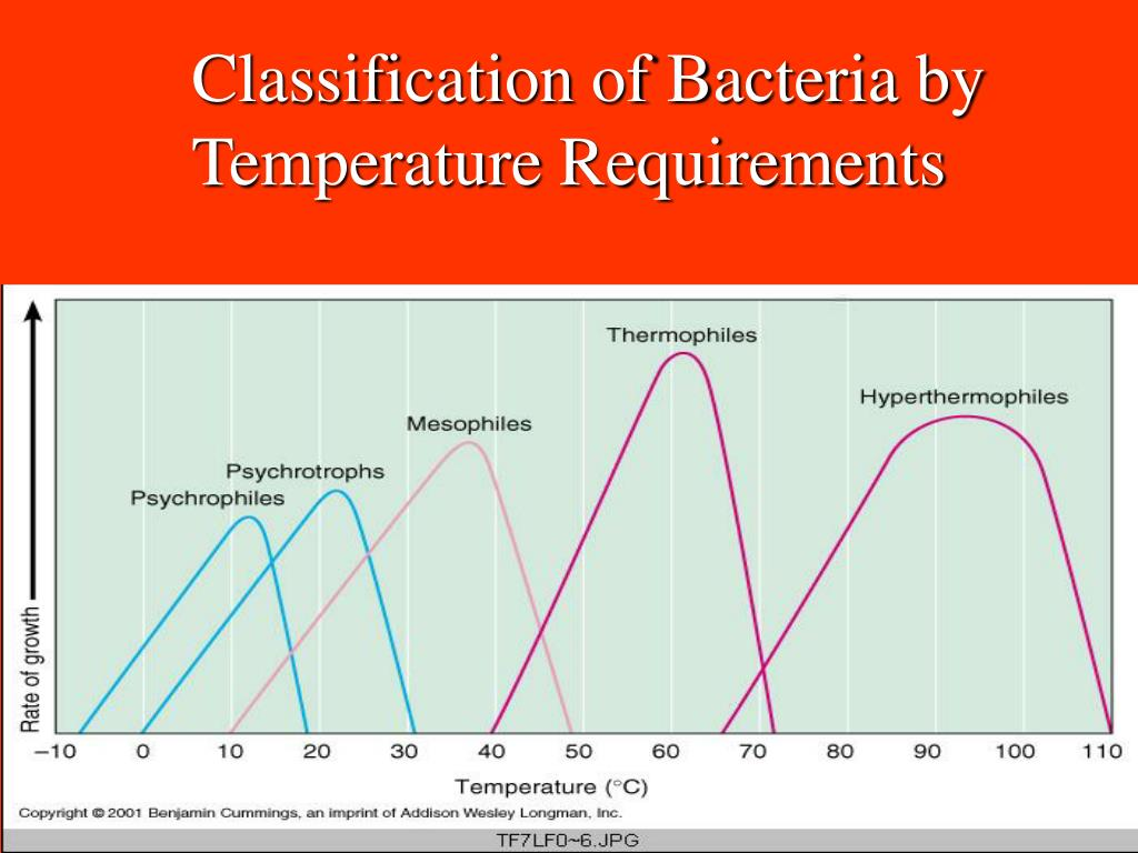 Classification of Bacteria by Temperature Requirements