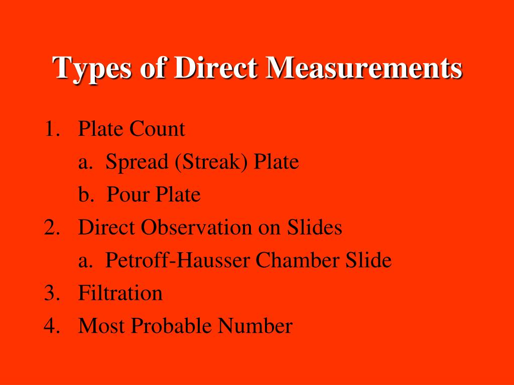 Types of Direct Measurements