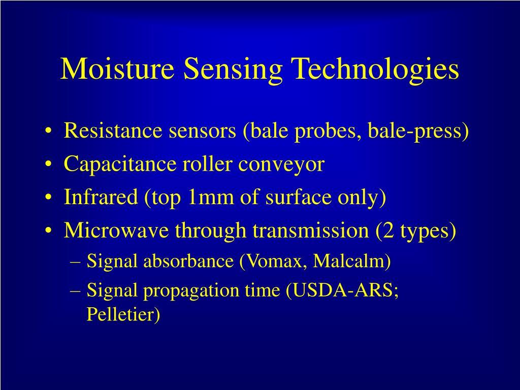 Moisture Sensing Technologies