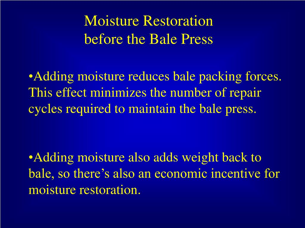 Moisture Restoration