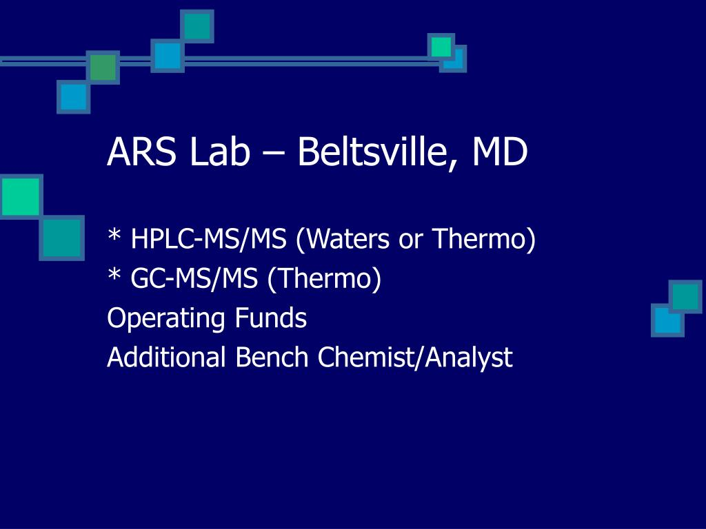 ARS Lab – Beltsville, MD