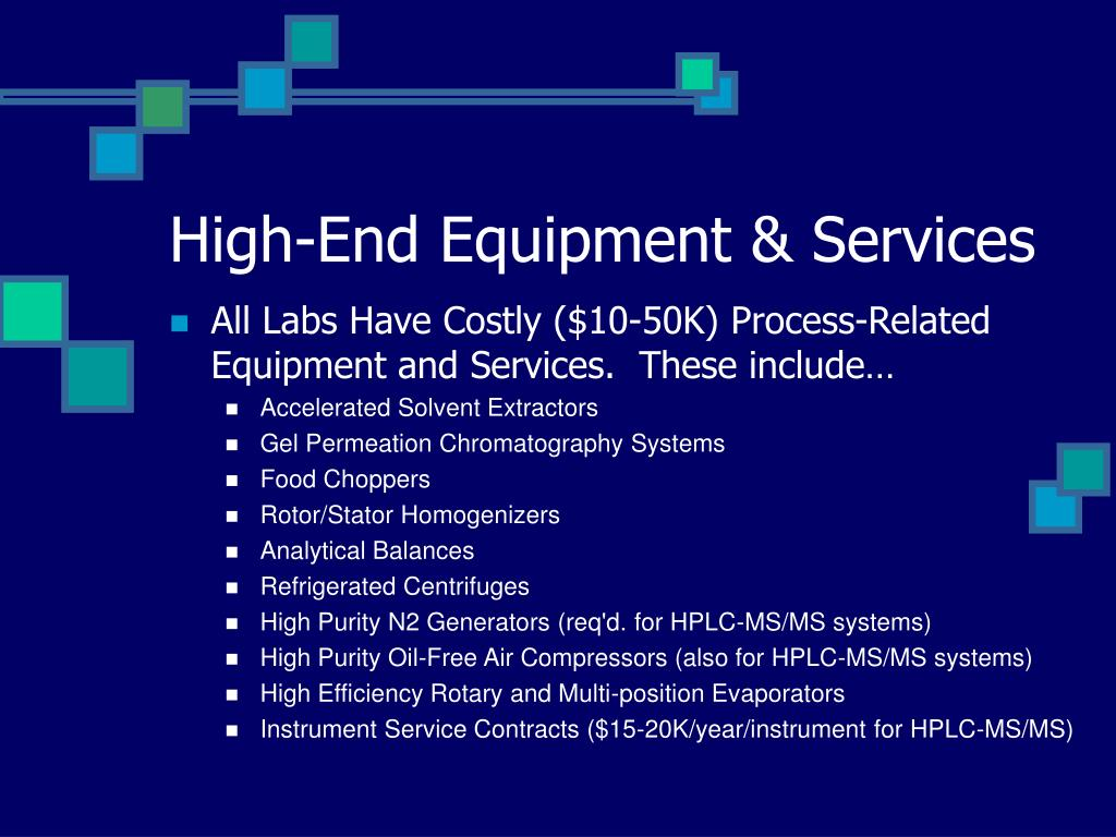 High-End Equipment & Services