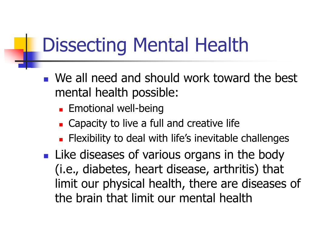 Dissecting Mental Health