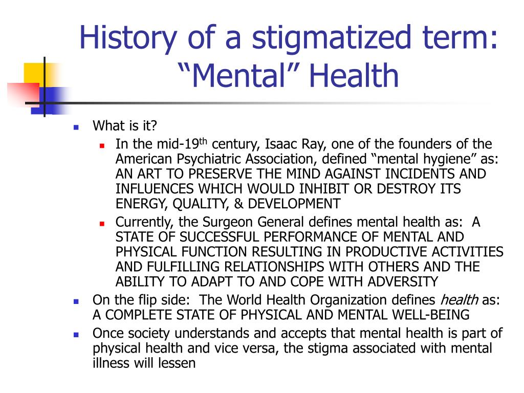 History of a stigmatized term: