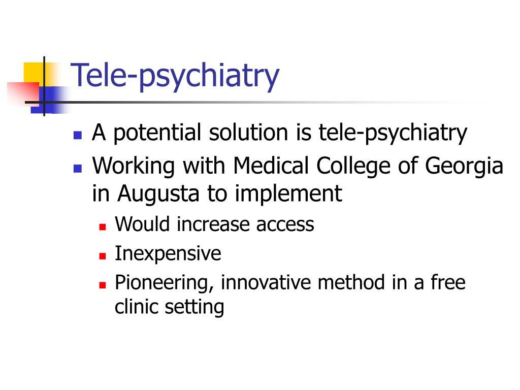 Tele-psychiatry