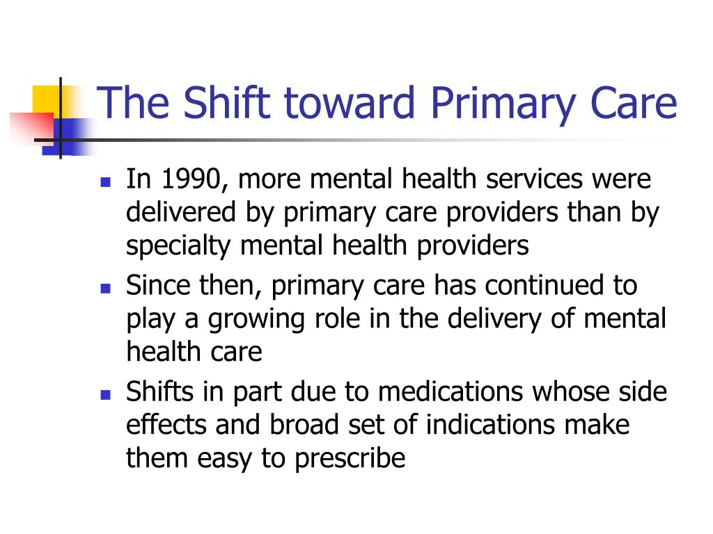 The Shift toward Primary Care