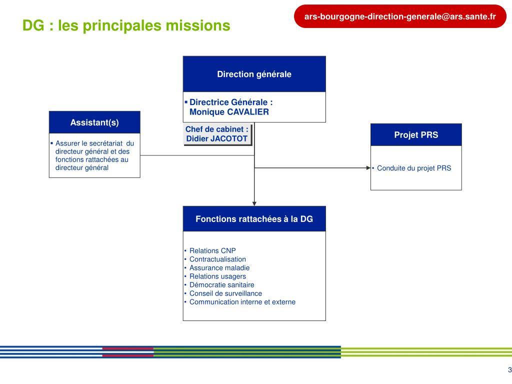 DG : les principales missions