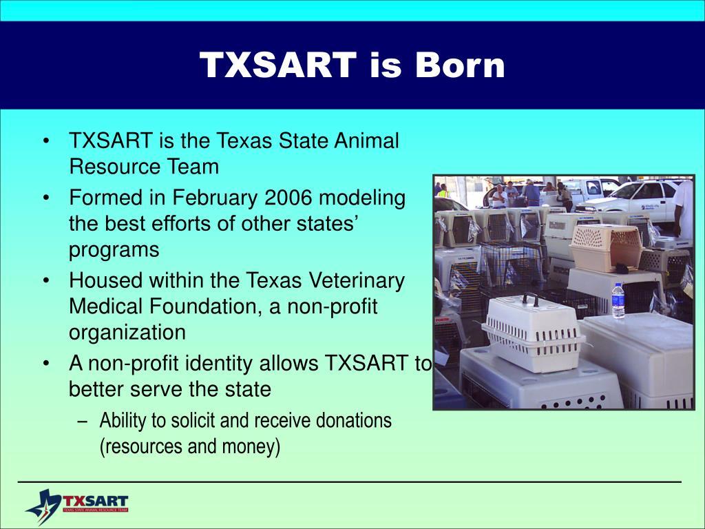 TXSART is Born