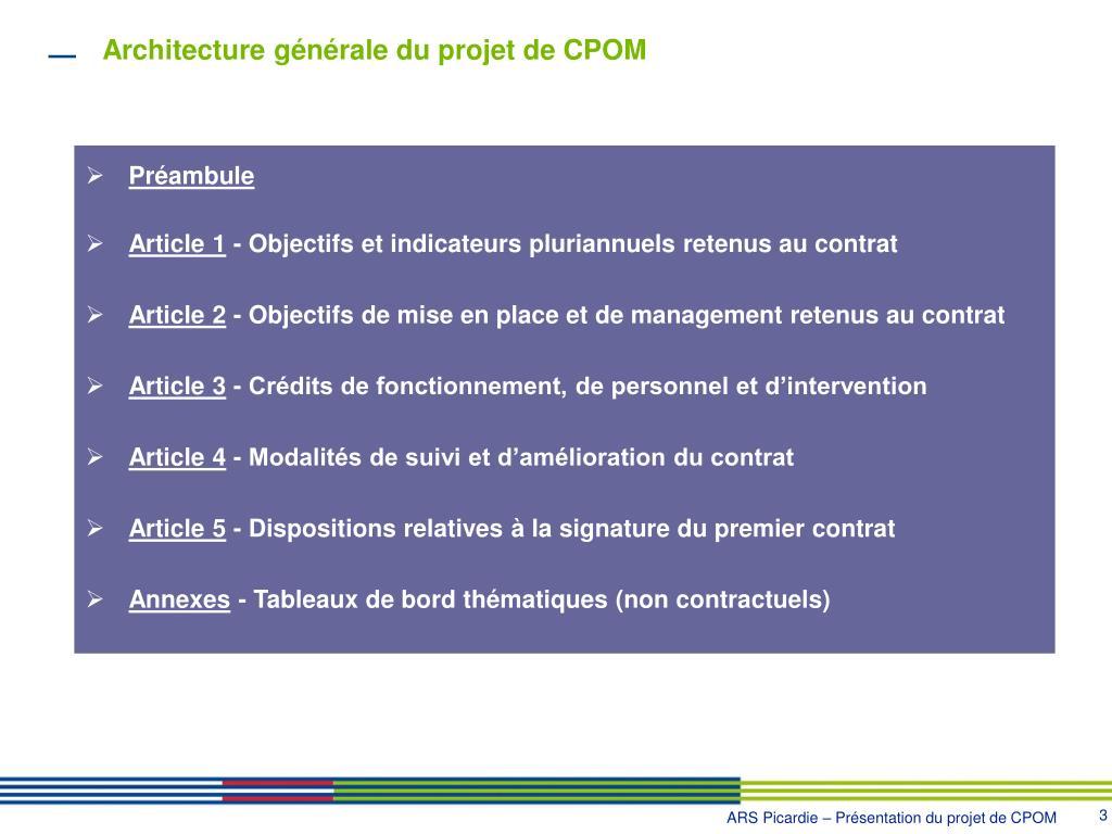 Architecture générale du projet de CPOM