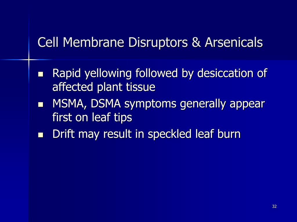 Cell Membrane Disruptors & Arsenicals