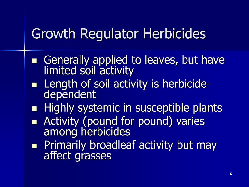Growth Regulator Herbicides