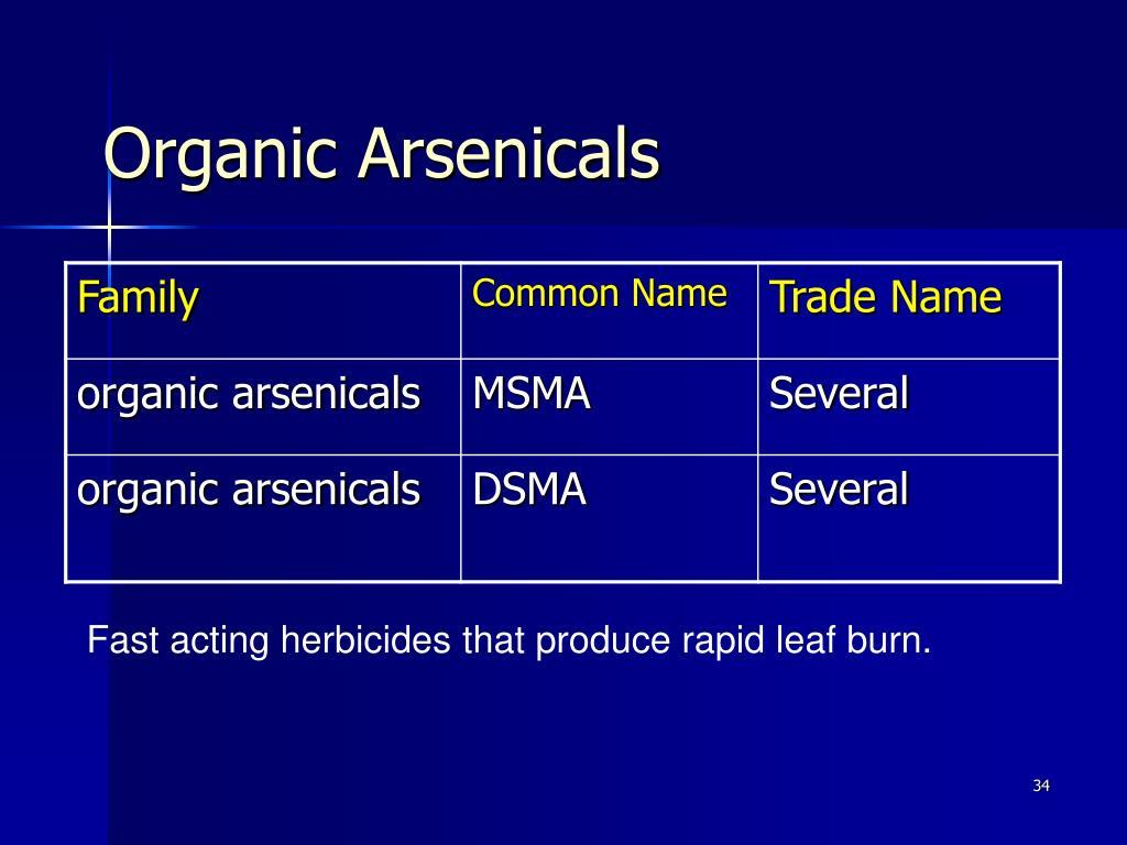 Organic Arsenicals