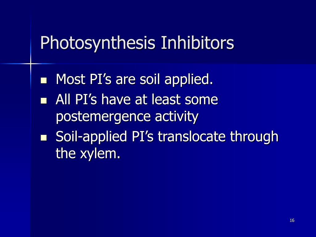 Photosynthesis Inhibitors