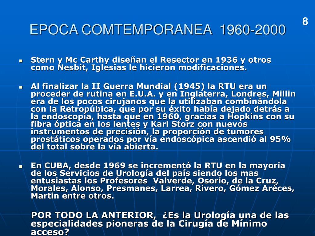 EPOCA COMTEMPORANEA  1960-2000