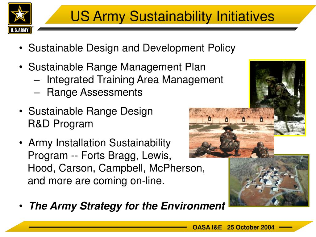 US Army Sustainability Initiatives