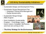 us army sustainability initiatives