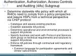 authentication authorization access controls and auditing 4as subgroup