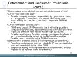 enforcement and consumer protections cont