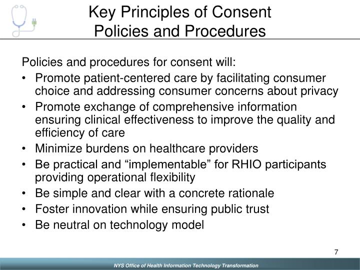 Key Principles of Consent