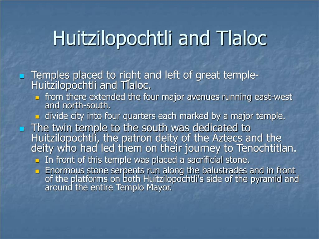 Huitzilopochtli and Tlaloc