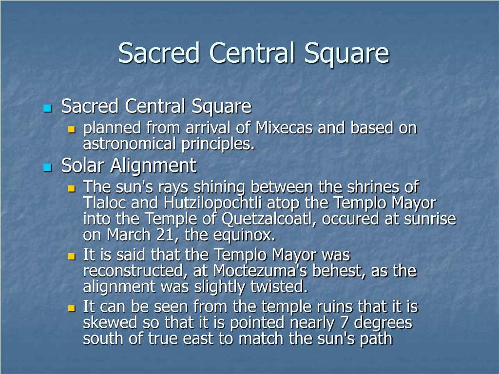 Sacred Central Square