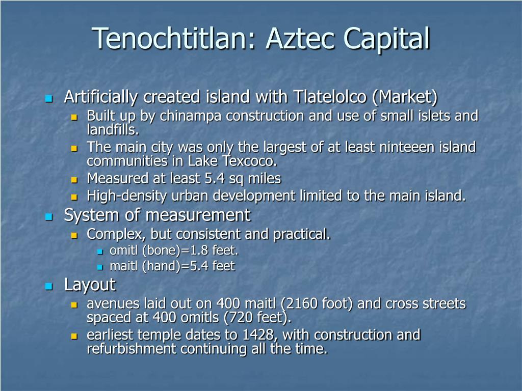 Tenochtitlan: Aztec Capital