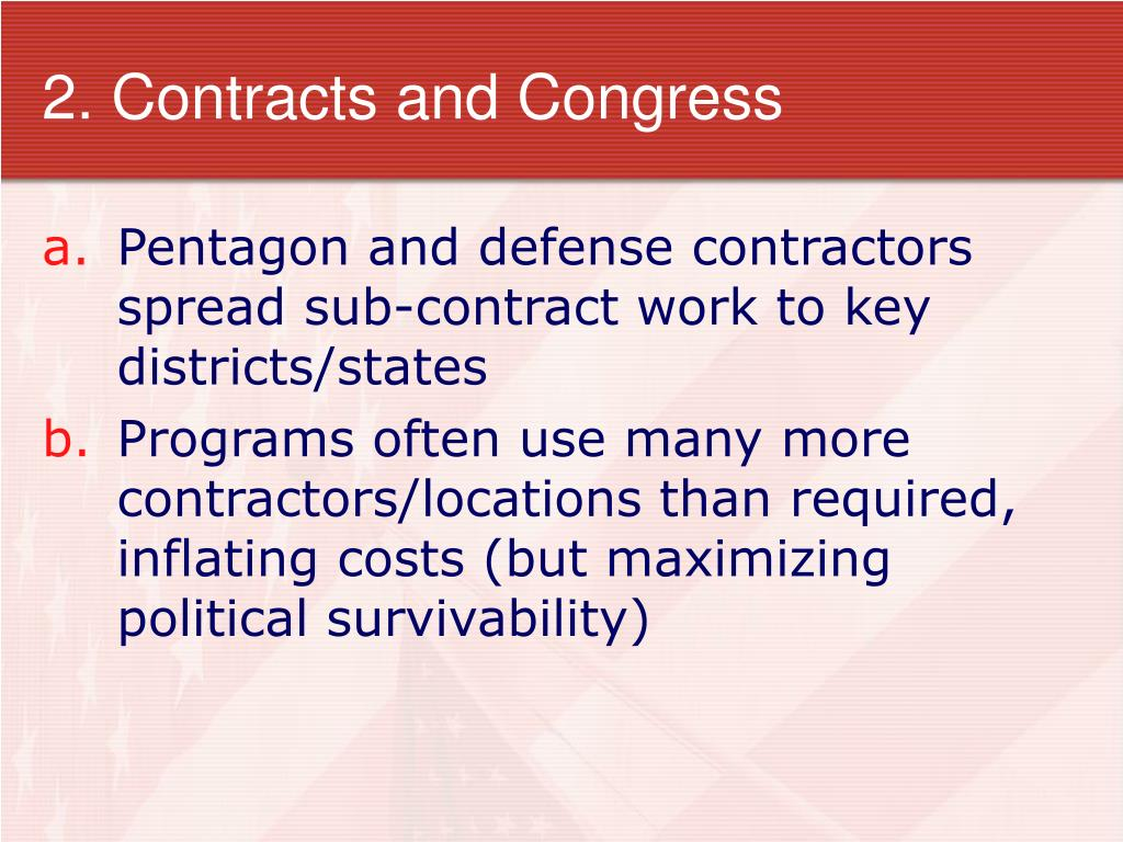 2. Contracts and Congress