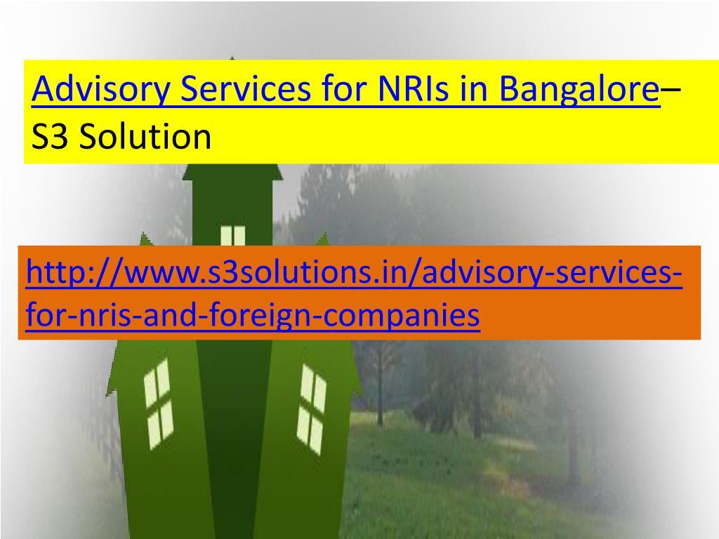 Advisory Services for NRIs