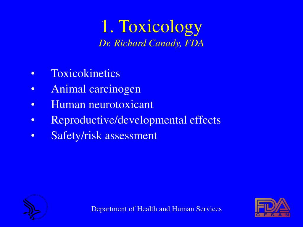 1. Toxicology
