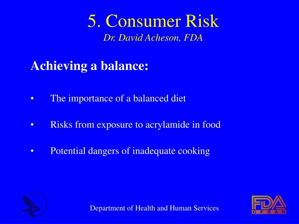 5. Consumer Risk