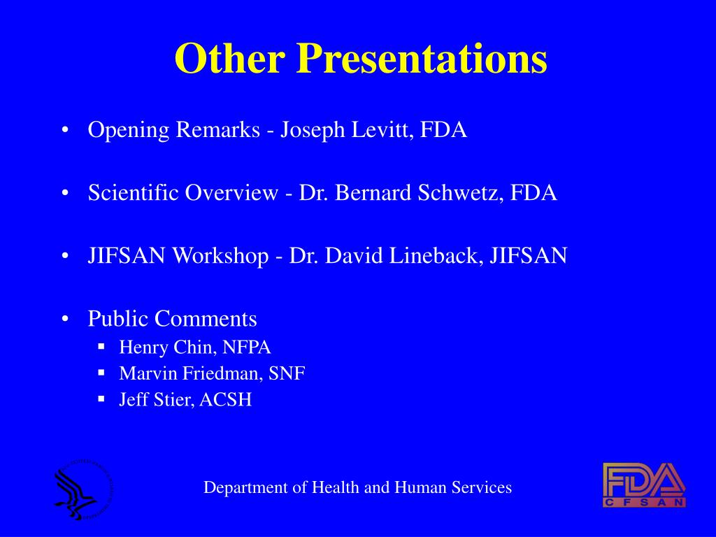 Other Presentations