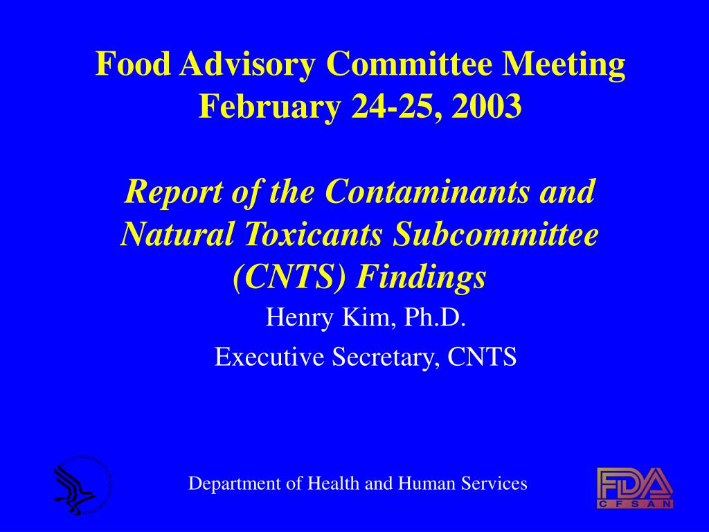 Food Advisory Committee Meeting February 24-25, 2003