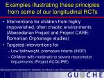 examples illustrating these principles from some of our longitudinal rcts
